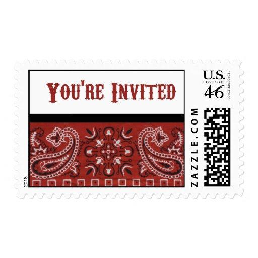 Invitación del pañuelo envio