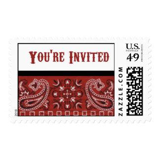 Invitación del pañuelo sellos