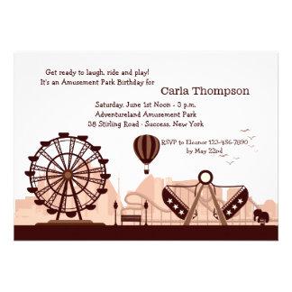 Invitación del parque de atracciones Brown