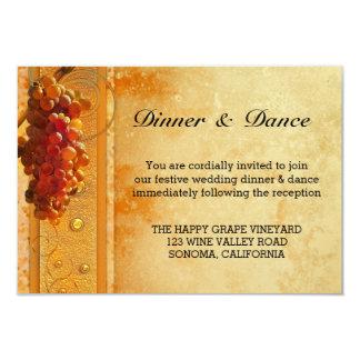 Invitación del parte movible del boda del viñedo