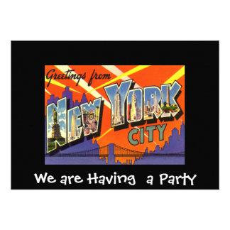 Invitación del particular de Nueva York