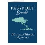 Invitación del pasaporte del boda a Aruba Tarjeta Pequeña