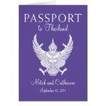 Invitación del pasaporte del boda a Tailandia Tarjetas