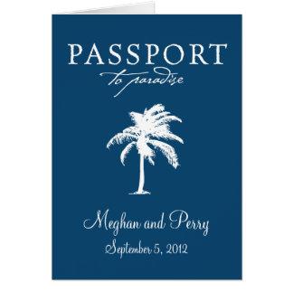 Invitación del pasaporte del boda de la travesía d tarjeta pequeña