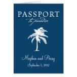 Invitación del pasaporte del boda de la travesía tarjeton