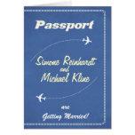 Invitación del pasaporte o línea aérea retra de la felicitacion