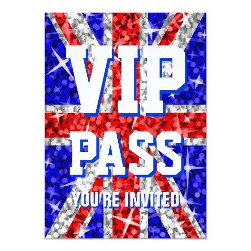 """Invitación del PASO de Reino Unido """"VIP"""" del Glitz"""