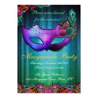 Invitación del pavo real de la celebración del invitación 12,7 x 17,8 cm