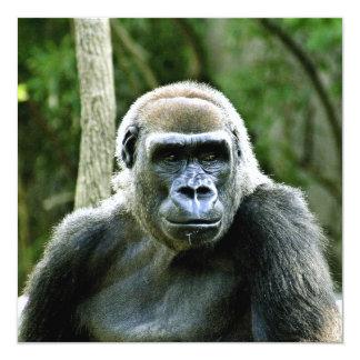 Invitación del perfil del gorila