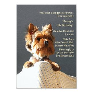 Invitación del perrito invitación 12,7 x 17,8 cm