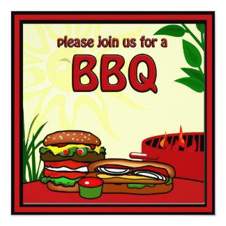 Invitación del perrito caliente de la hamburguesa