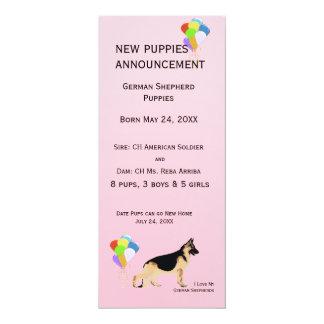 Invitación del perrito del perro de pastor alemán