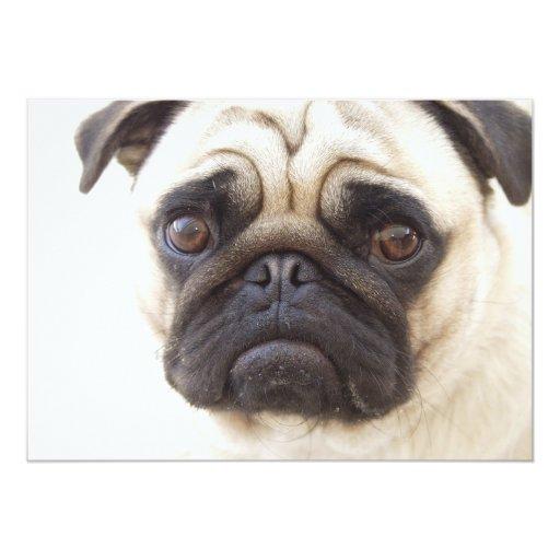 Invitación del perro del barro amasado invitación 12,7 x 17,8 cm