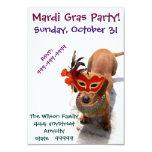 Invitación del perro del Dachshund del fiesta del