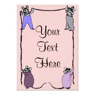 Invitación del personalizable del amor del ratón