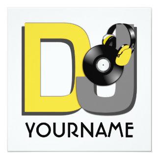 Invitación del personalizado de DJ