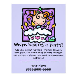 Invitación del personalizado de la fiesta de cumpl tarjetones