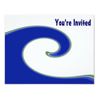 Invitación del personalizado de la onda de marea