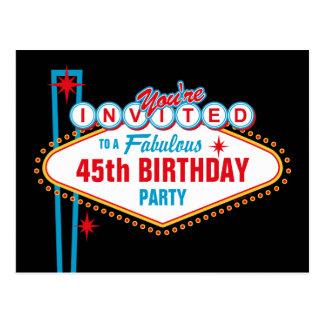 Invitación del personalizado de Las Vegas Postales