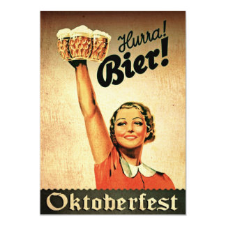 Invitación del personalizado de Oktoberfest del Invitación 12,7 X 17,8 Cm