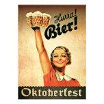 Invitación del personalizado de Oktoberfest del al