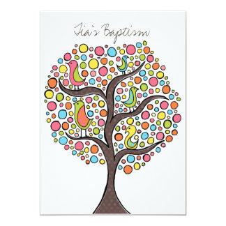 Invitación del personalizado del árbol del pájaro
