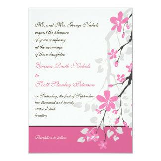 Invitación del personalizado del boda del rosa de