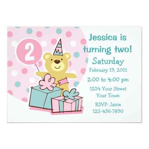 Invitación del personalizado del cumpleaños del
