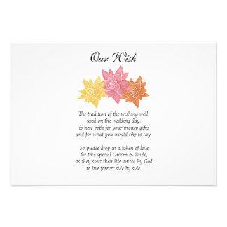 Invitación del personalizado del día de boda de