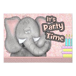 Invitación del personalizado del elefante del