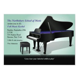 Invitación del piano de cola