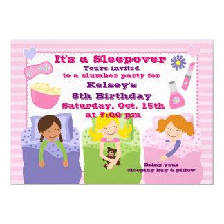 Invitación del pijama del Sleepover de la fiesta