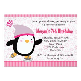 Invitación del pingüino - cumpleaños de los chicas