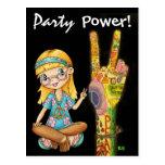 ¡Invitación del poder de la paz y del fiesta - aho Tarjetas Postales
