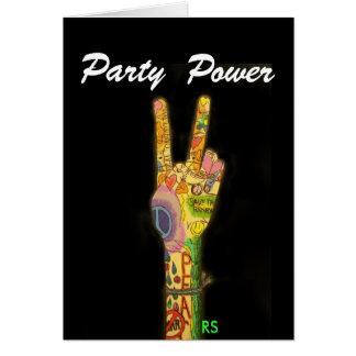 Invitación del poder de la paz y del fiesta tarjeta pequeña