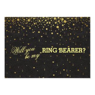 Invitación del portador de anillo del confeti del
