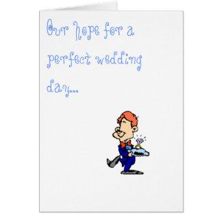 Invitación del portador de anillo tarjeta de felicitación