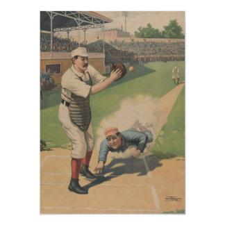 Invitación del poster del béisbol del vintage