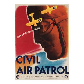 Invitación del poster del vintage de WWII Invitación 12,7 X 17,8 Cm