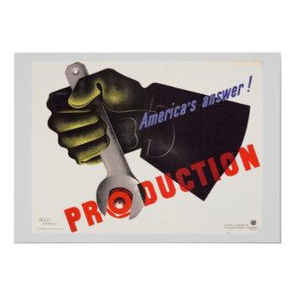 Invitación del poster del vintage de WWII