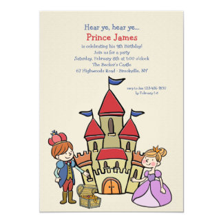 Invitación del príncipe y del castillo
