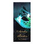 Invitación del programa del boda de la mascarada