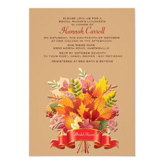 Invitación del ramo de las hojas de otoño