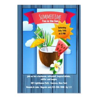 Invitación del refresco del verano