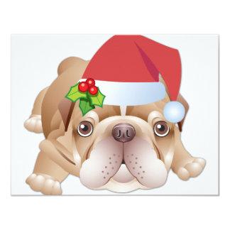 Invitación del regalo del perro del navidad