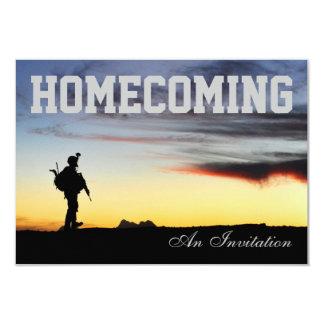 Invitación del regreso al hogar de los soldados