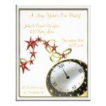 Invitación del reloj de Noche Vieja