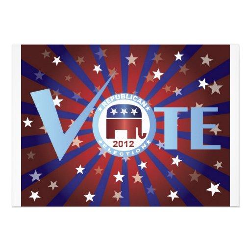 Invitación del republicano de 2012 votos