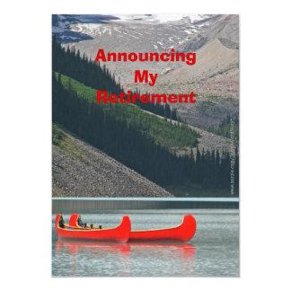 Invitación del retiro, canoas de la montaña invitación 12,7 x 17,8 cm