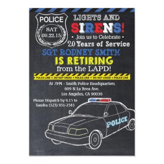 Invitación del retiro de la policía